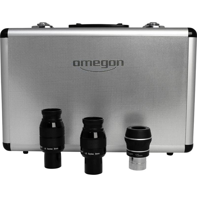 Komplet kvalitetnih okularjev optimiziran za gorišče teleskopa do 1200 do 1800 mm
