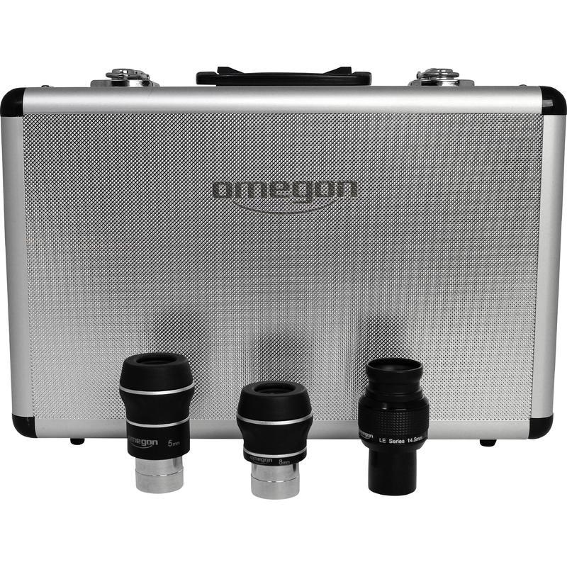 Komplet kvalitetnih okularjev optimiziran za gorišče teleskopa do 1200 mm.