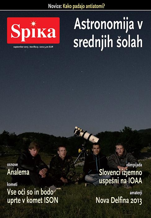 Revija Spika, naslovnica september 2013