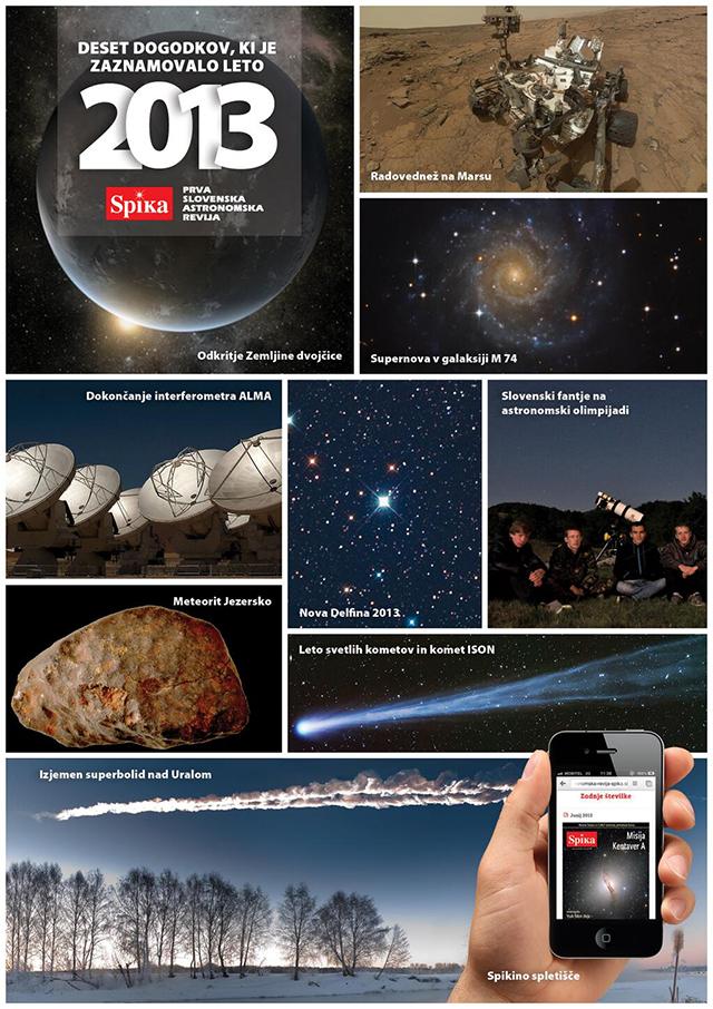Deset dogodkov, ki je zaznamovalo leto 2013 v astronomiji