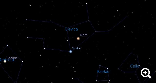 Kako najdem planet Mars na nebu?
