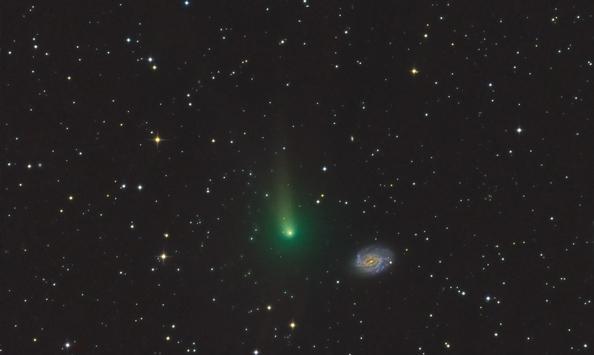 Astrofotografija kometov iz domačega vrta s sodobno CCD kamero G2-8300