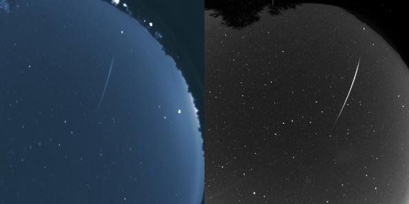 Posnetka vsenebne kamere GAJA (levo) in observatorija Rezman.