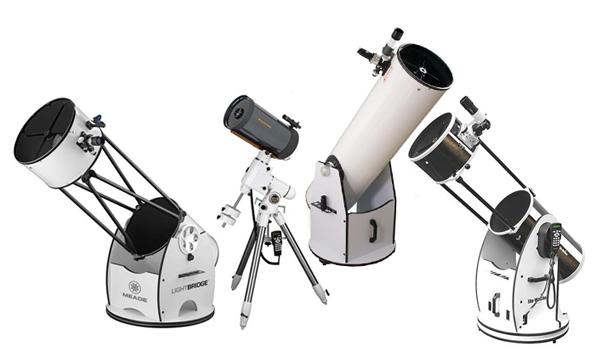 Različni teleksopi za začetnike in izkušene opazovalce.