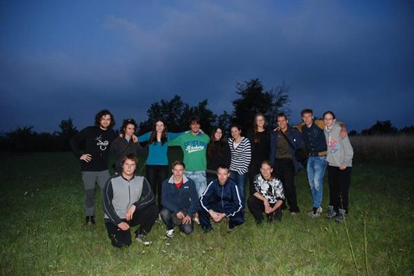 Skupina astronomov, ki je opazovala meteorski roj Perzeidov