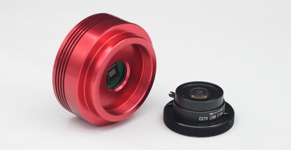 Vsenebna kamera (AllSky) ASI120MM in objektiv