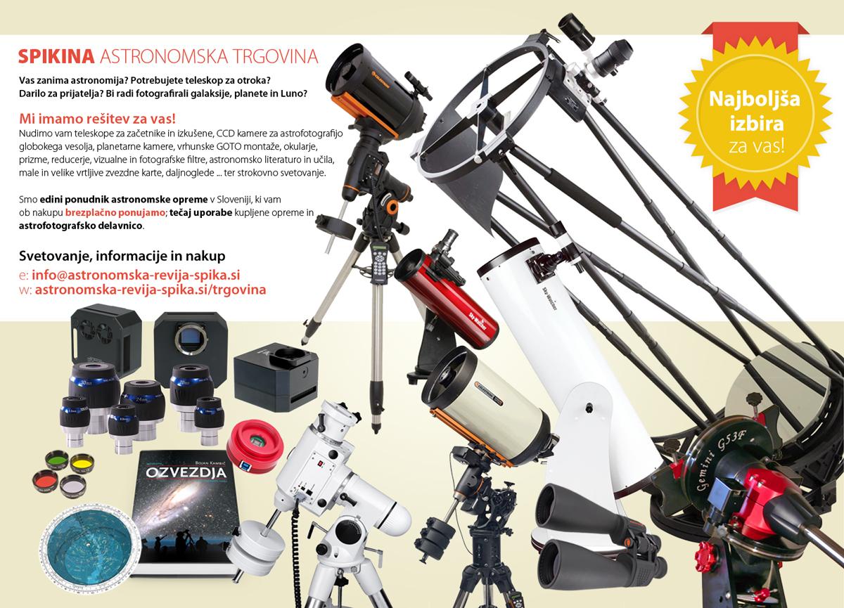Teleskopi za začetnike in izkušene astronome!