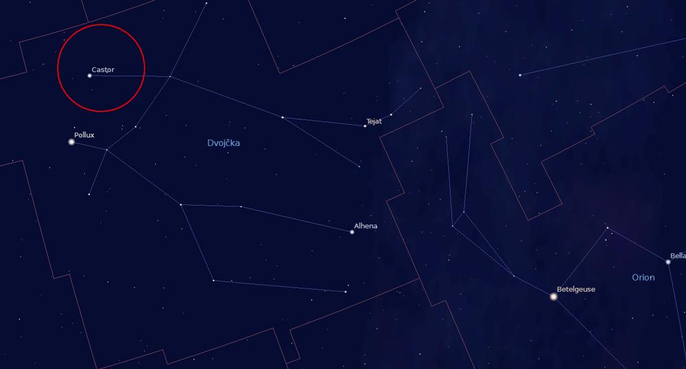 Radiant meteorskega roja Geminidi