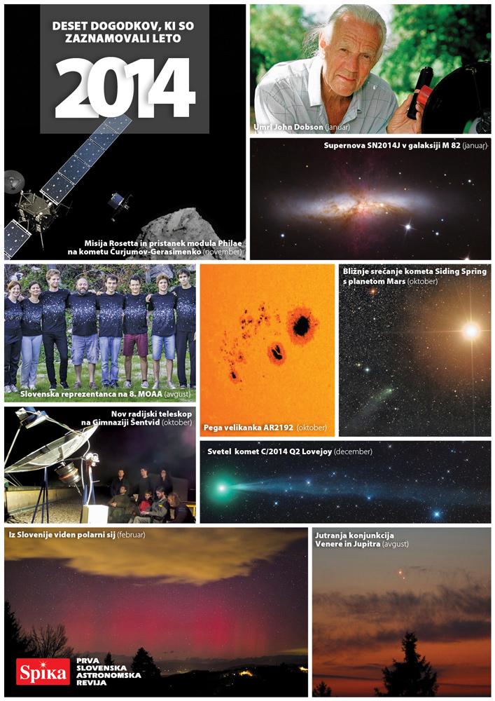 Kaje je zaznamovalo leto 2014 v astronomiji?