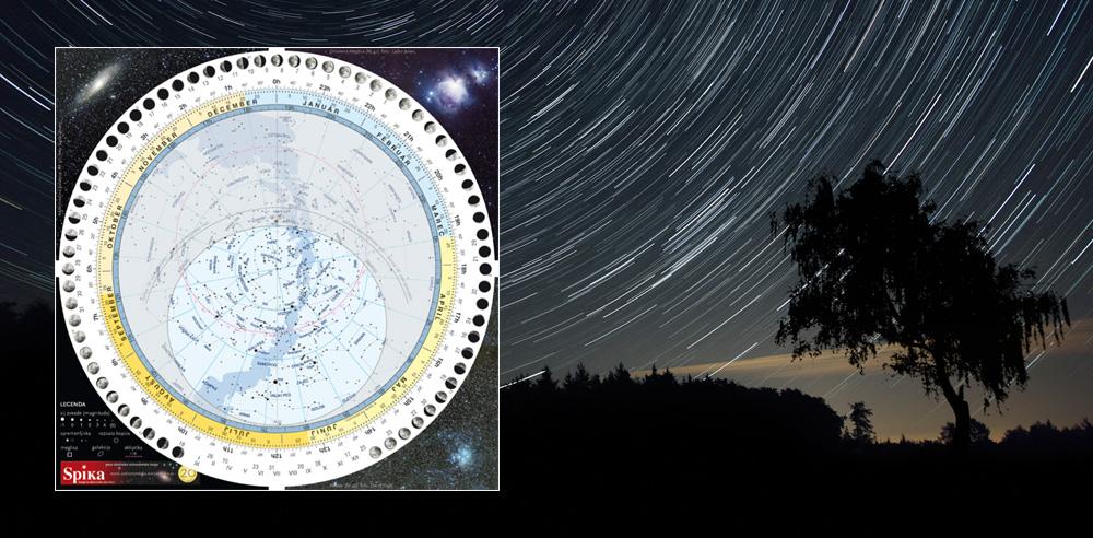 Spikina vrtljiva zvezdna karta je praktičen pripomoček za začetnike in za izkušene astronome amaterje.