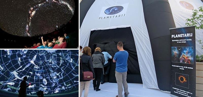 Digitalni planetarij in pazovanje zvezd in Lune -Turistična vas Pristava