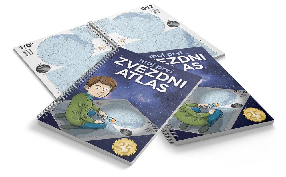 Moj prvi zvezdni atlas je primeren za vse začetnike, ki se podajate v svet astronomije, za starše z nadobudnimi otroki.