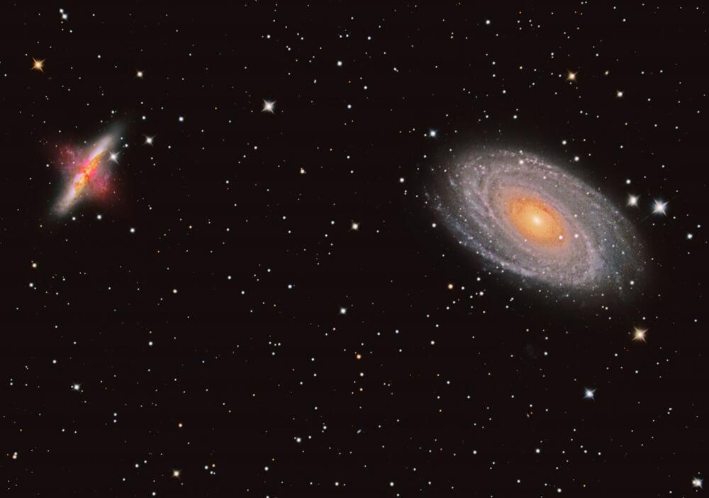 Astrofotograf Stojan Golob / galaksiji M81 in M82