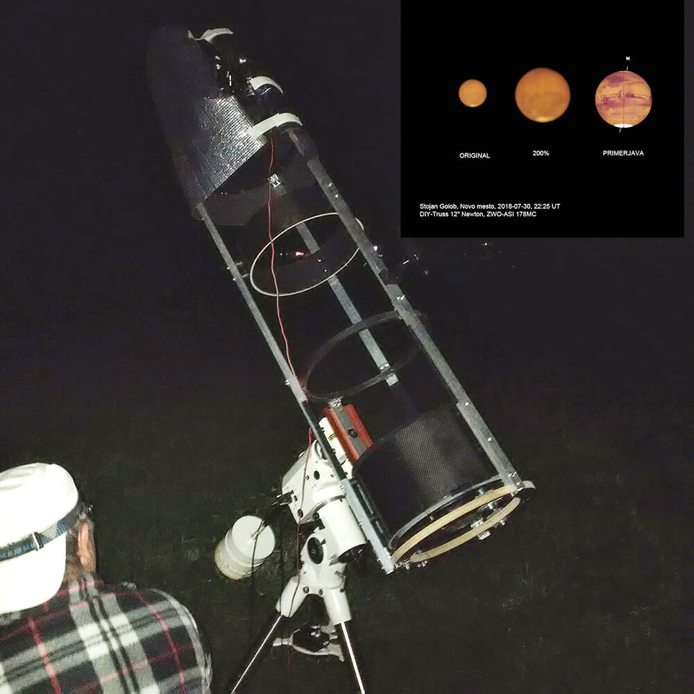 Astrofotograf Stojan Golob / teleskop za opazovanje planetov