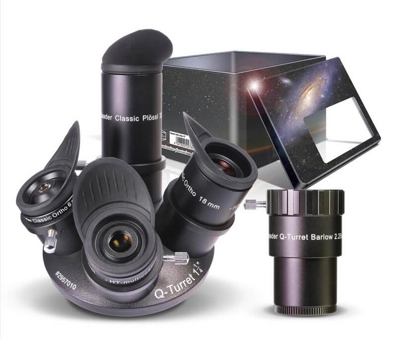 Cenovno dostopen komplet okularjev Baader-Q-Turret. Odlično razmerje med ceno in kakovostjo.
