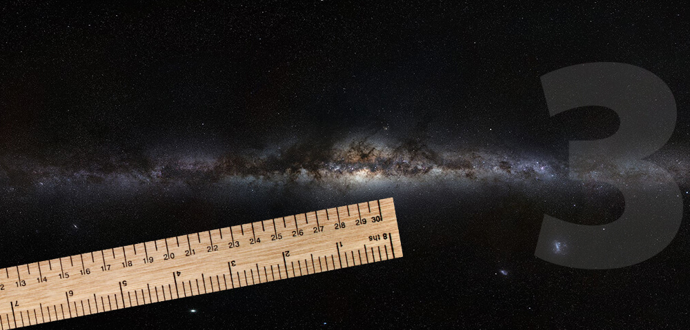 Naša Galaksija, kot je videti od strani, in približna lega Sonca v njejj