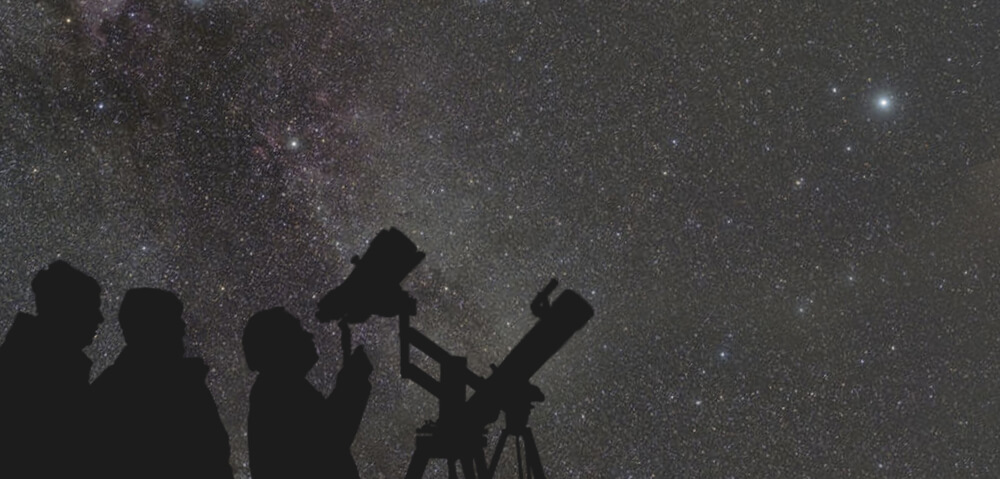 Opazovanje dvojnih zvezd s teleskopom.